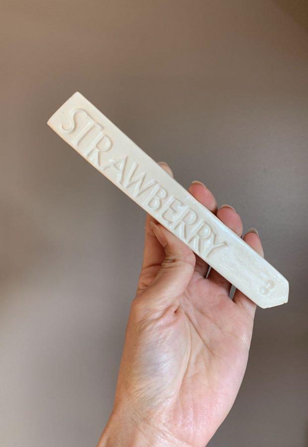 NEW Handmade Ceramic Strawberry Stake