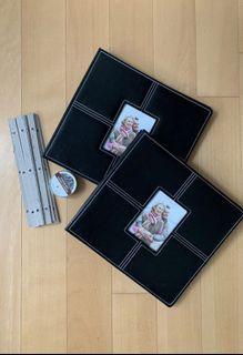 NEW Memory Stor Black Leather Expandable Scrapbooks