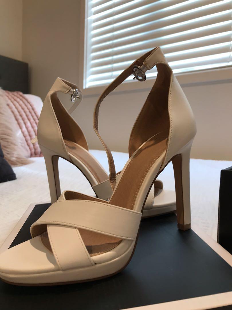 Novo miller white high heels