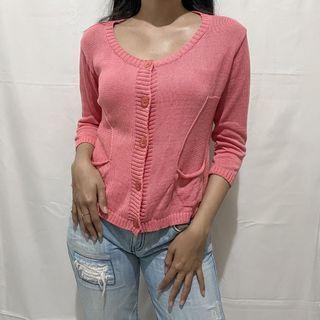 Pink Knit Cardi