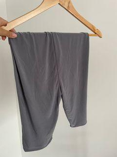PLT Slinky Grey Biker Shorts - Size 8