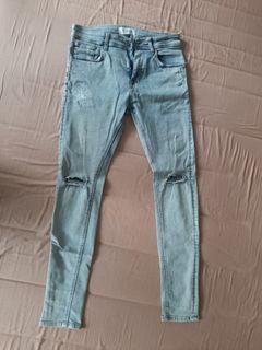 Ripped Jeans Bershka Denim Skinny
