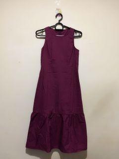 Maroon Ruffles Dress