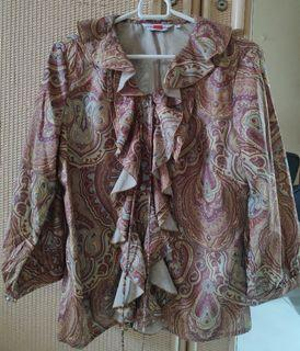 Suzanna Wanasuka Blouse Atasan Motif Batik Preloved