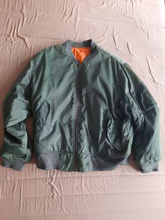 Unbranded Bomber MA-1 Army Green