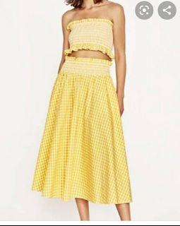 Zara Yellow Gingham Set