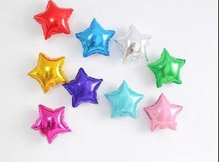 10 x 5inch small foil balloons (hearts, stars)