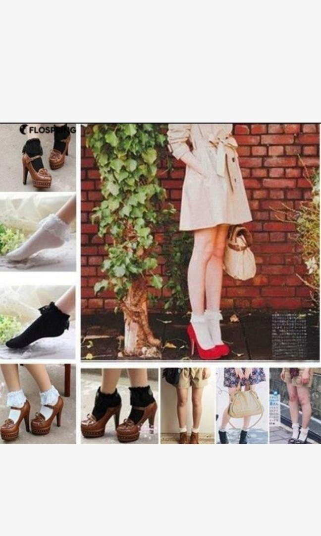 蕾絲黑色襪子