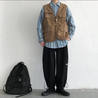 古着 多口袋 工裝 背心