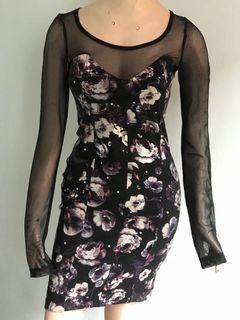 Dress hitam HnM ukuran kecil body shape