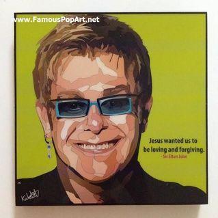 Elton John PopArt! Portrait Wall Decoration