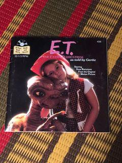ET the extraterrestrial vintage read along book and record as told by Gertie