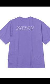 全新正版Nerdy 紫色短袖上衣T恤 S