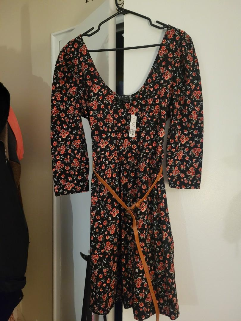 NWT size 1x forever 21 dress and belt