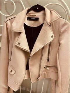 Zara blush color suede jacket