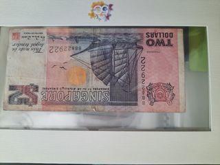 2 old singapore dollar