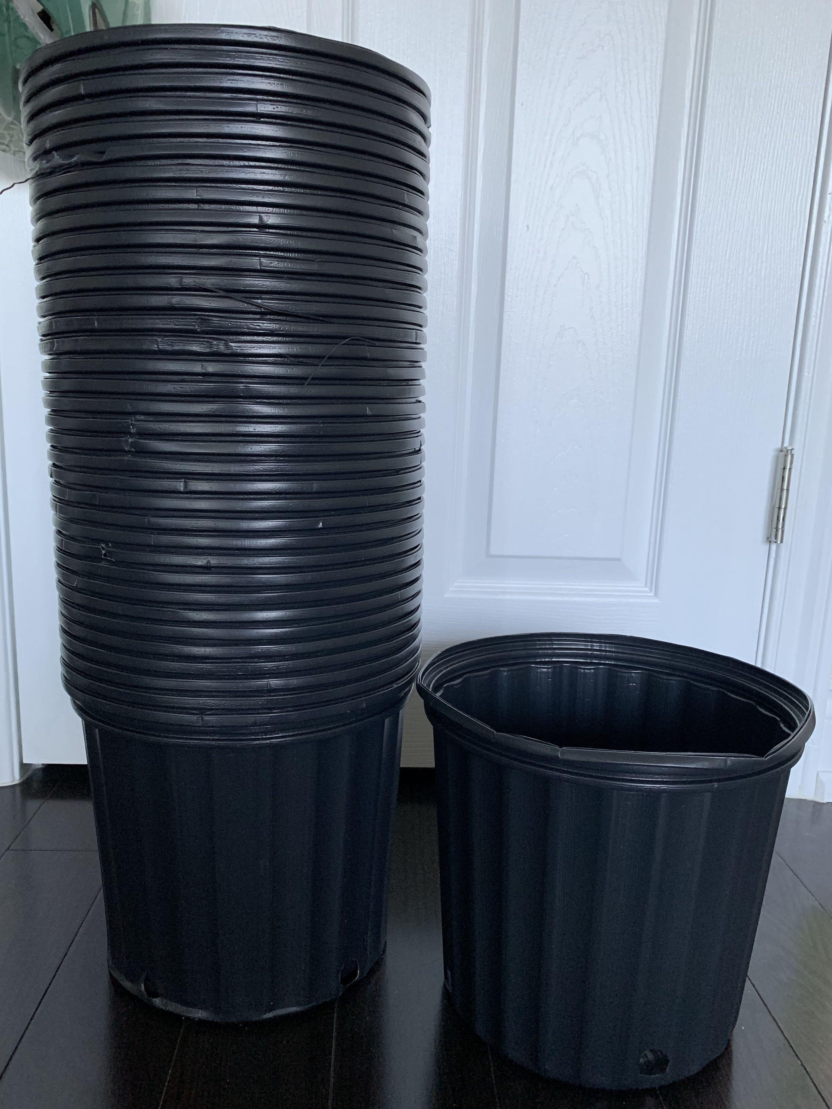 9L Plastic Nursery Plant Pot ($10 for 3 or $4 each) with Drainage holes