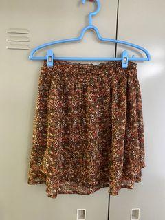 碎花 短裙 雙層設計