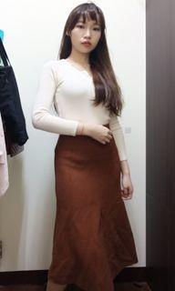 駝色長裙 針織 冬季長裙 #2021地球日