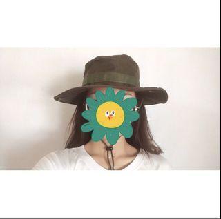軍綠色 奔尼帽 漁夫帽 登山帽
