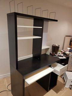 Desk with drawer and keyboard tray