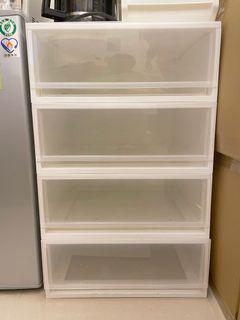 IKEA透明抽屜組合櫃