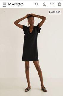 Mango Ruffled Sleeve Shift Dress