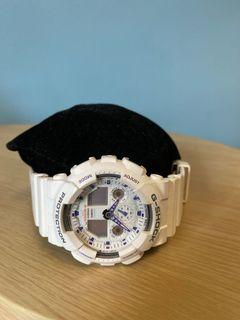 Men's G Shock watch with purple Indices