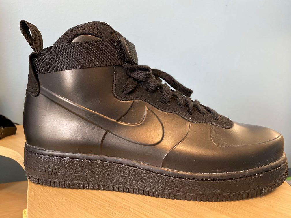 Nike Air Force 1 Foampostie cup triple black size 10
