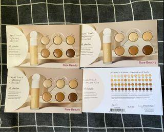 Rare Beauty by Selena Gomez liquid touch brightening concealer tester card