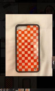 Red & White Checkered Wildflower iPhone 8 + case