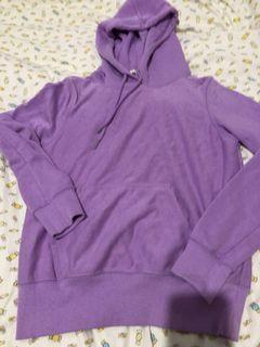 淺紫色連帽帽t