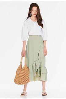 TCL Alessia Midi Skirt in Spring Mint