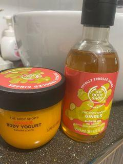 The Body Shop Body Cream and shower gel