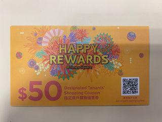Times Square Shopping coupon $50