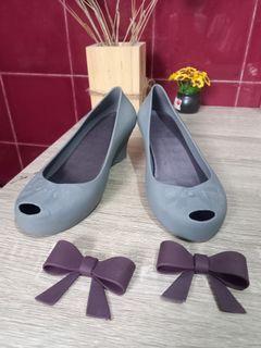 Tltsn - Berdine gray wedges shoes