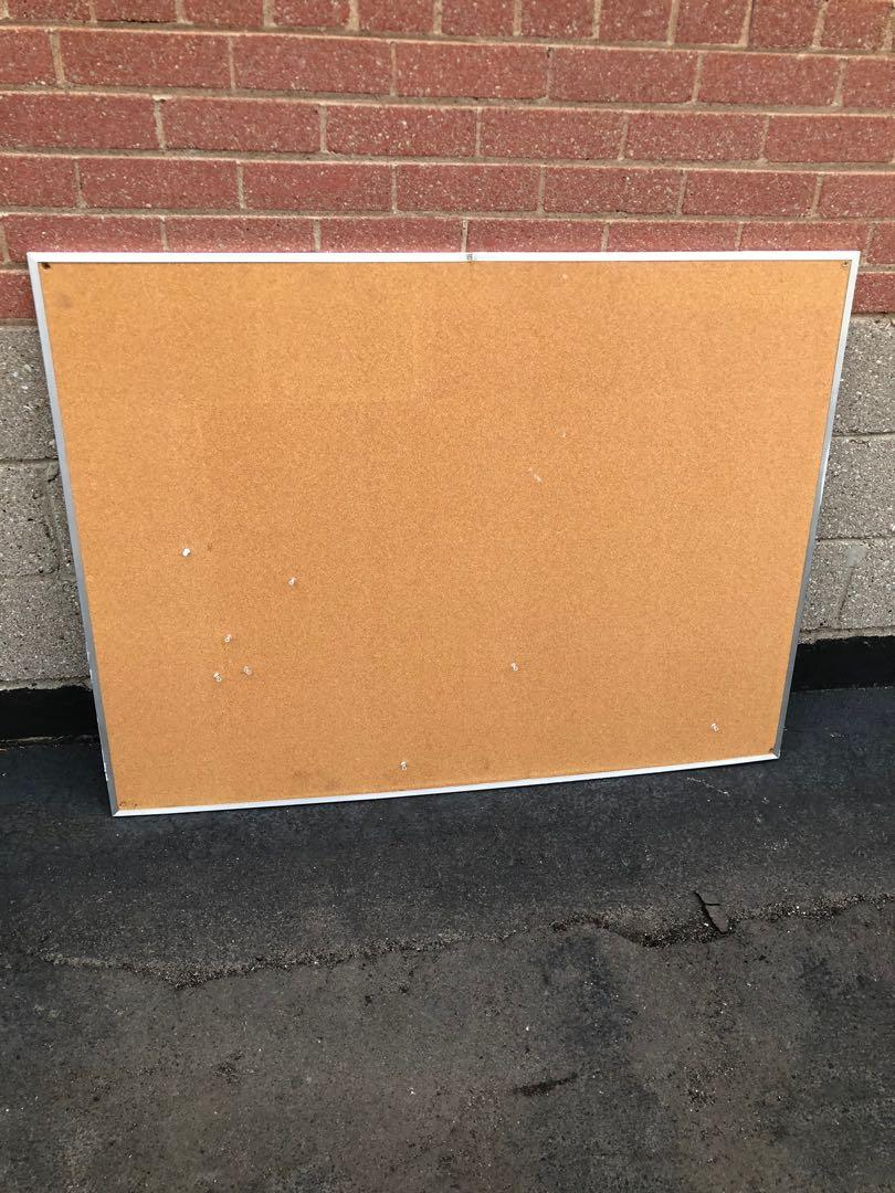 """$45 for big cork bulletin board 36"""" high and 48"""" wide"""