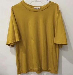 芥末黃短袖上衣