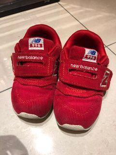 二手 new balance 996 紅色燈芯絨 童鞋 尺寸16cm