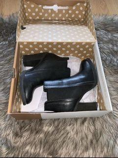 Black Ankle Boots- CALLITSPRING Size 6