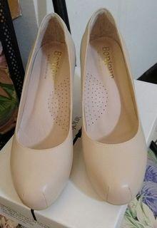 bonjour女鞋 超好穿靜音高跟鞋 8cm 41碼 25.5碼 杏 顯瘦 輕量版