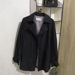 Coat Korea Import Hitam