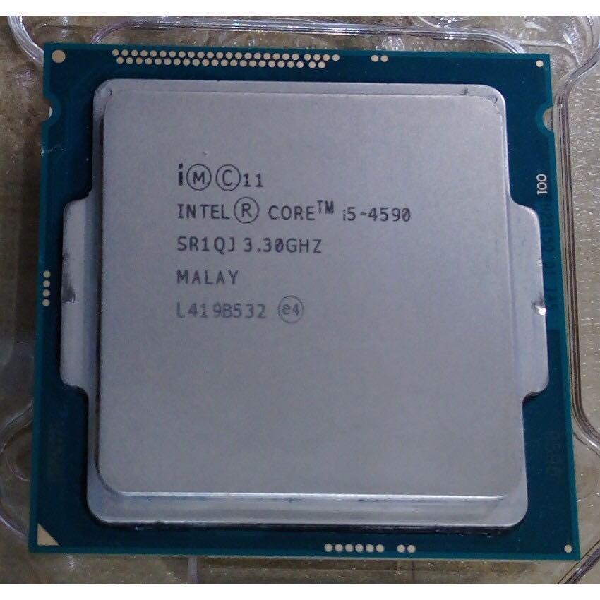 CPU core i5 4590 3.30Ghz  3.70Ghz