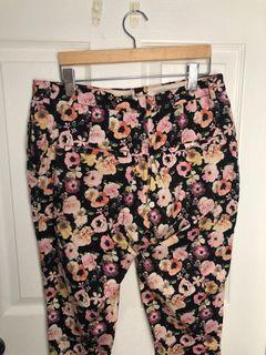 H&M Straight Leg Flower Print Pant