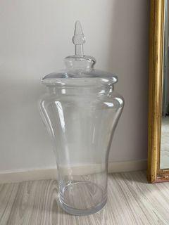 Huge Glass Storage Vase with Lid