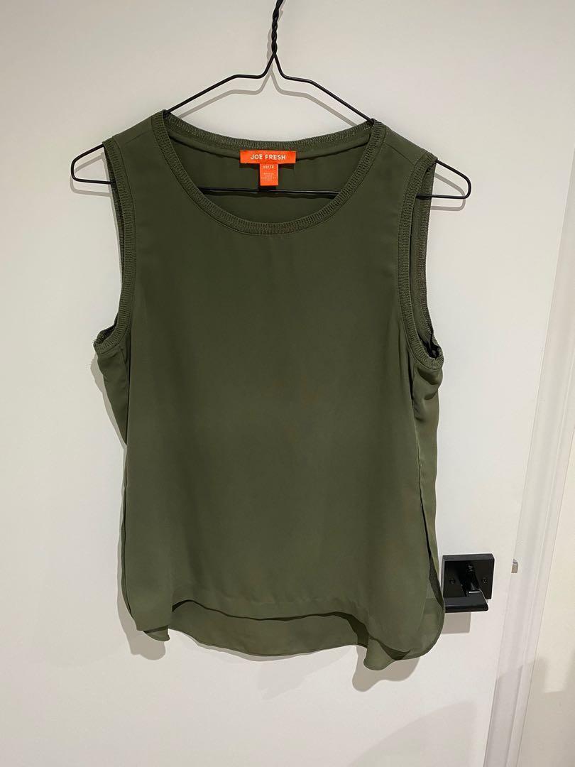 Joe fresh sleeveless blouse size xsmall