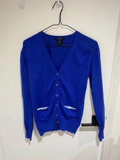 Pink Tartan rouched cardigan women's size small