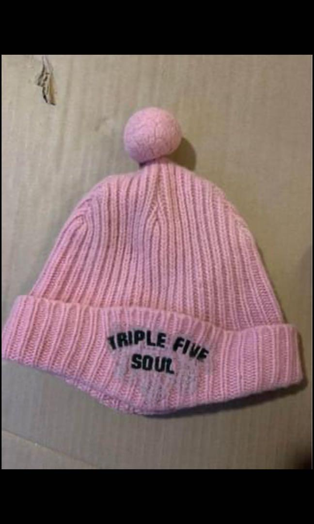Pink winter hat