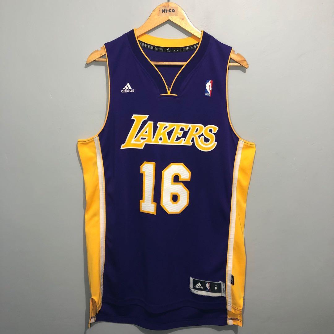 RARE????Adidas Lakers Pau Gasol #16 Jersey????, Men's Fashion ...