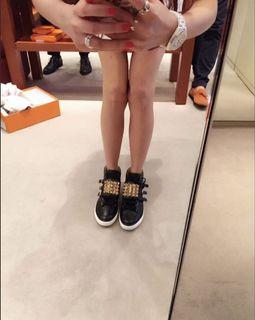 「sogo復興館購入」愛瑪仕Hermes皮革短桶靴